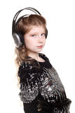 Teenage girl in the headphones Stock Photos