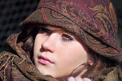 Teenage girl with headscarf Royalty Free Stock Photos