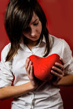 Teenage girl with heart Stock Photos