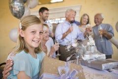 Teenage Girl Holding Gift Royalty Free Stock Photo