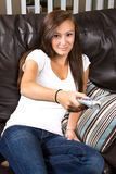 Teenage Girl at Home Stock Photo