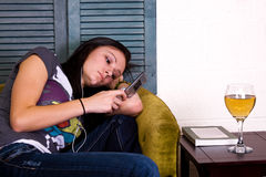 Teenage Girl at Home Stock Photos