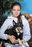 Teenage girl hugging her dog Royalty Free Stock Photography