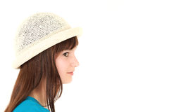 Teenage girl in hut Stock Photos