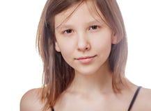 Teenage girl isolated Royalty Free Stock Photography