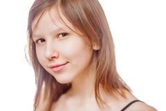 Teenage girl isolated Stock Photos