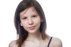 Teenage girl isolated Stock Photography