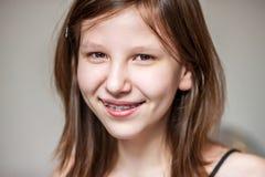 Teenage girl isolated Stock Images