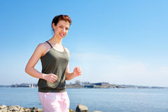 Teenage Girl Jogging Royalty Free Stock Photos