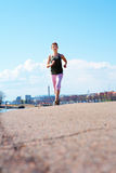 Teenage Girl Jogging Stock Images