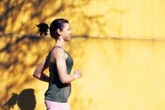 Teenage Girl Jogging Royalty Free Stock Photography