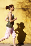 Teenage Girl Jogging Royalty Free Stock Photography