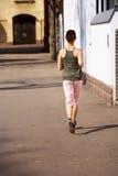 Teenage Girl Jogging Stock Photos