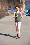Teenage Girl Jogging Stock Image