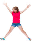 Teenage girl jumping Stock Photography
