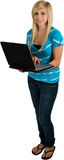Teenage Girl With Laptop Computer Stock Image