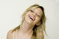 Teenage girl laughing Royalty Free Stock Photo