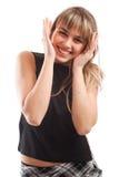 Teenage girl laughing Royalty Free Stock Photos