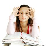 Teenage girl learning Stock Photo