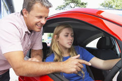 Teenage Girl Learning How To Drive Royalty Free Stock Image
