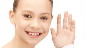 Teenage girl listening gossip Stock Images