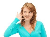 Teenage girl listening gossip Royalty Free Stock Photo