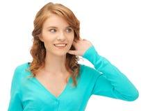 Teenage girl listening gossip Royalty Free Stock Image