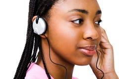 Teenage girl listening music Stock Photos