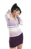 Teenage girl listening music Stock Image