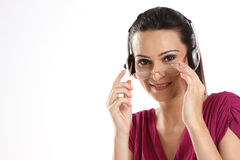 teenage girl listening to music Royalty Free Stock Photo