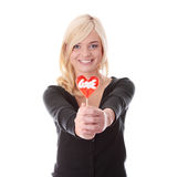Teenage girl with lollipop Royalty Free Stock Photography