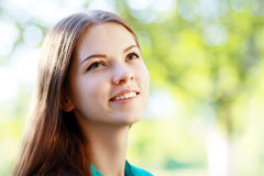 Teenage girl looking Stock Photos