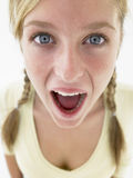 Teenage Girl Looking Shocked Royalty Free Stock Photography