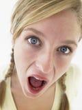 Teenage Girl Looking Shocked stock photography