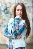 Teenage girl looking thoughtful Stock Photography