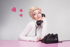Love phone Royalty Free Stock Image