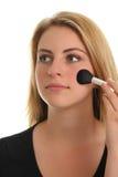 Teenage girl and makeup Stock Photos
