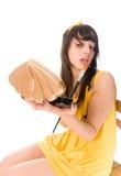 Teenage girl making up Stock Photo