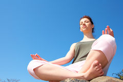 Teenage Girl Meditating Royalty Free Stock Images