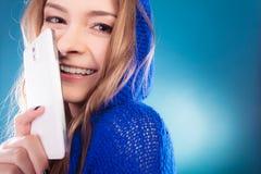 Teenage girl with mobile phone Stock Image