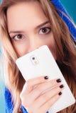 Teenage girl with mobile phone Stock Photo
