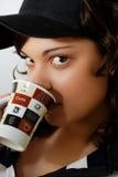 Teenage girl with mug. Teenage girl with a mug Stock Images