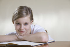 Teenage Girl With Music Sheet Royalty Free Stock Photos