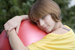Teenage girl in nature Stock Photography