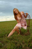 Teenage girl in nature Royalty Free Stock Photos