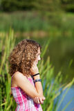 Teenage Girl Near A Lake Stock Images