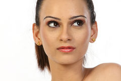 Teenage girl with nice make-up Royalty Free Stock Images