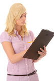 Teenage girl with notebook Royalty Free Stock Images