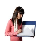 Teenage Girl with notebook Royalty Free Stock Image