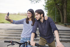 Teenage girl with older brother Stock Photography